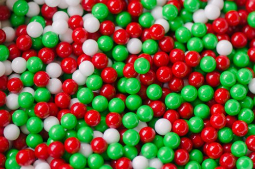#21805 - Mini Jawbreakers Red, White, Green